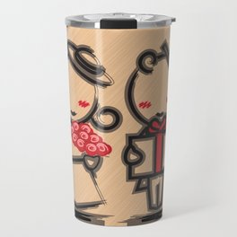 Lovely Couple in 4 Colours Travel Mug