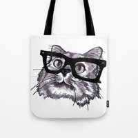 ninja Tote Bags featuring Ninja by Liz Coffee