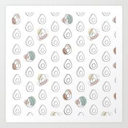 avocado obsession Art Print