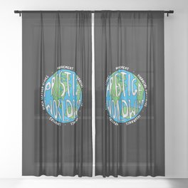 Prestige Worldwide Enterprise, The First Word In Entertainment, Step Brothers Original Design for Wa Sheer Curtain