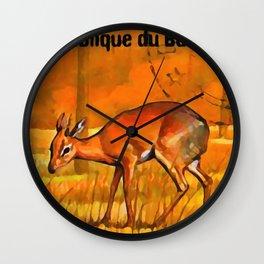 Salt's dik-dik Wall Clock