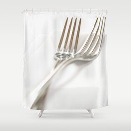 Fork&Napkin Shower Curtain