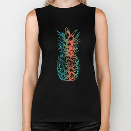 Color Pineapple Summer Wild Fresh Beach Fruit Biker Tank