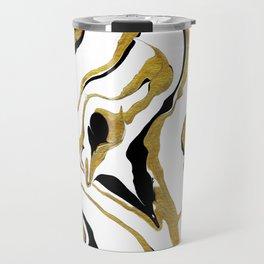 Gold And Black Opulence Travel Mug
