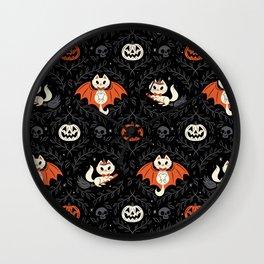 Spooky Kittens Wall Clock