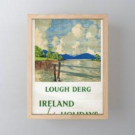 locandina Lough Derg Ireland Framed Mini Art Print
