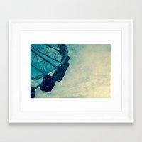 ferris wheel Framed Art Prints featuring Ferris Wheel by Tracy Wong