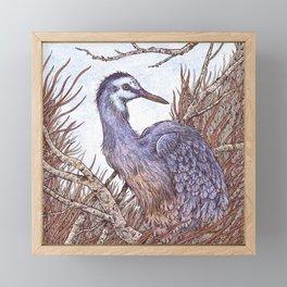 White Faced Heron Framed Mini Art Print