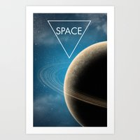 planet Art Prints featuring Planet by Natalie Reed