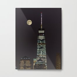 Moonlit Skyline Metal Print