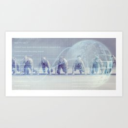 Group of Multiethnic Diverse Business People Concept Background Art Print