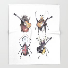 Meet the Beetles (white option) Throw Blanket