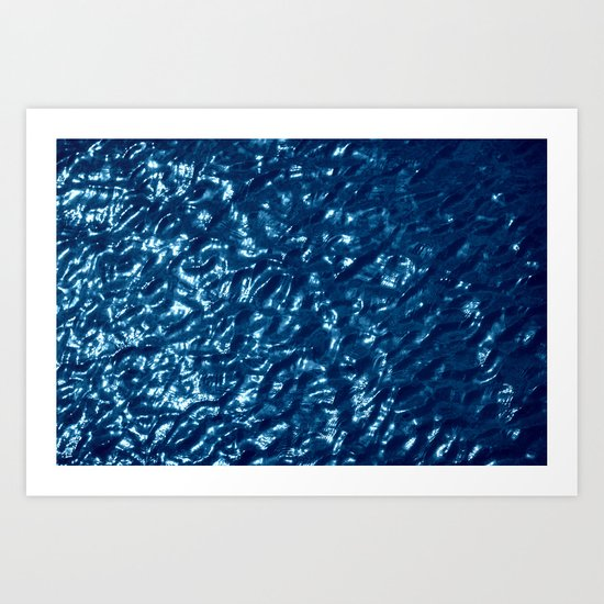 Water surface abstract Art Print