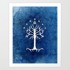 The White Tree Art Print