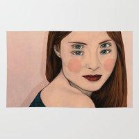 iris Area & Throw Rugs featuring Iris by Sofia Azevedo