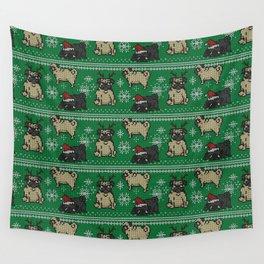 CHRISTMAS PUG Wall Tapestry
