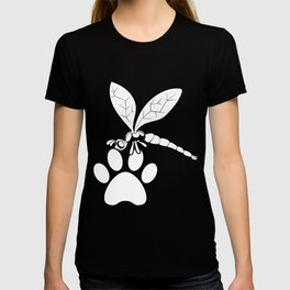 Dragonfly And Cat Foot T-shirt
