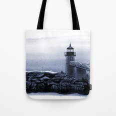Lighthouse, Marshall Point, Maine Tote Bag