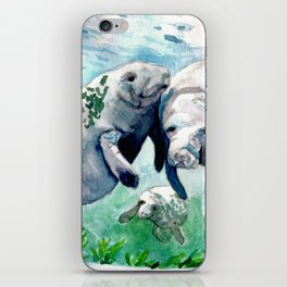 """Manatee Love"" iPhone Skin"