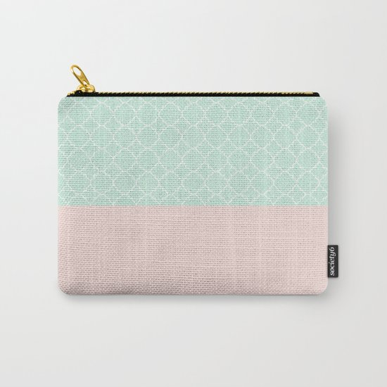 Vintage Blue, Classic Pink Carry-All Pouch
