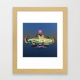 Fractal Alien Spaceship Framed Art Print