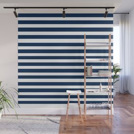 Navy-White ( Stripe Collection ) Wall Mural