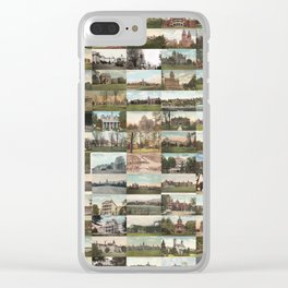 Kirkbride Asylum Vintage Postcard Collage Clear iPhone Case