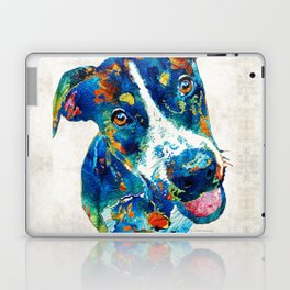 Colorful Dog Art - Happy Go Lucky - By Sharon Cummings Laptop & iPad Skin