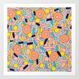 CIRCLES IN MOTION - pastel love Art Print