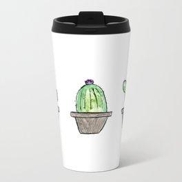 3 types of cactus Metal Travel Mug