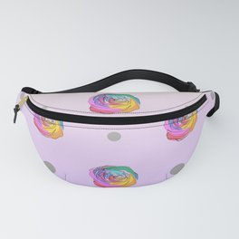 Rainbow Rose and Polka Dots Fanny Pack