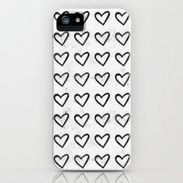 Big Heart Ink Pattern iPhone Case
