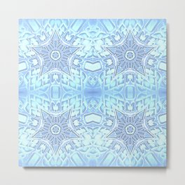 Frozen Blue Stars Metal Print