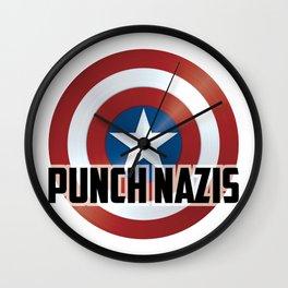 Punch Nazis Wall Clock