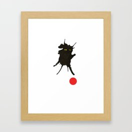 cat with ball #2 Framed Art Print