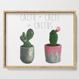 Cactu + Cacti = Cactus Serving Tray
