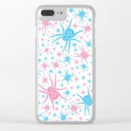 Halloween Spider (white) Clear iPhone Case