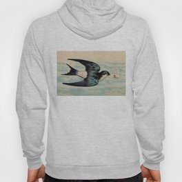 Blue Swallow with Love Letter Hoody