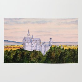Neuschwanstein Castle Bavaria Germany Rug