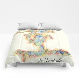 Go Home Lake - Coloured Map Comforters