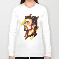 house stark Long Sleeve T-shirts featuring Tony Stark by AlysIndigo