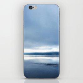 Soft winter sky iPhone Skin