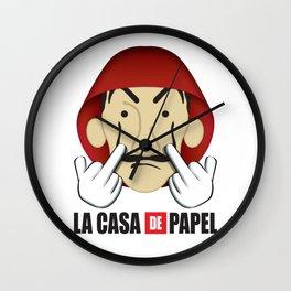 La casa de Papel Money Heist Fuck you Wall Clock