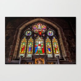 Ancient Stained Glass Canvas Print