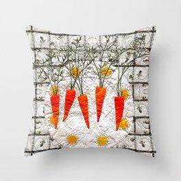 Carrot dance Throw Pillow