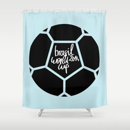 Brazil World Cup 2014 - Poster n°5 Shower Curtain