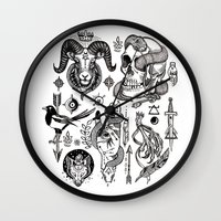 alchemy Wall Clocks featuring Lesser Alchemy by Polkip
