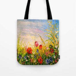 Field and flowers Tote Bag