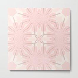 Romantic in Pink and Grey Metal Print