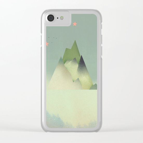 Abstract Cloudscape Clear iPhone Case